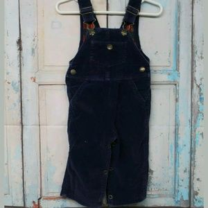 French Toast Vintage Infant Blue Coudory Overalls